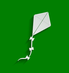 kite sign paper whitish icon with soft vector image vector image
