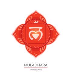 Muladhara - chakra icon vector