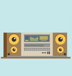 Music center flat vector