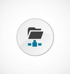 Net folder icon 2 colored vector