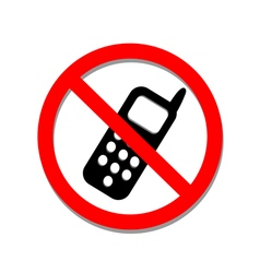 No phone sign on a white background vector image vector image