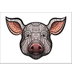 Pig head mascot vector image vector image