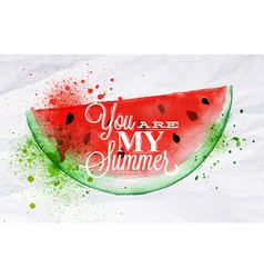 Poster fruit watermelon vector image vector image