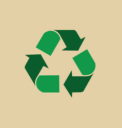 recycle symbol green arrows logo web icon vector image