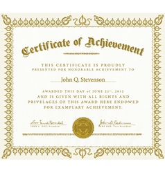 Ribbon frame or certificate vector
