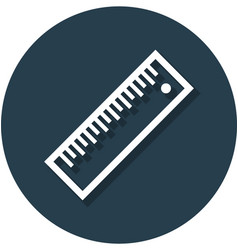 ruler in circle line icon vector image vector image