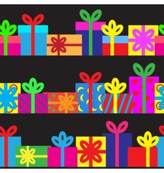 Set of seamless series of gift boxes vector image