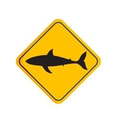 Shark silhouette board vector