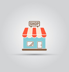 shop isolated colored icon vector image