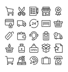 shopping and e commerce icons 8 vector image