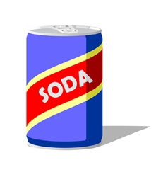 Soda pop can vector