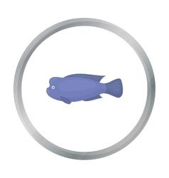 Stearocranus fish icon cartoon Singe aquarium vector image