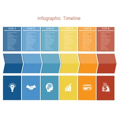 Timeline 6 options vector image vector image