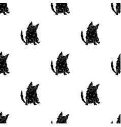 turkish angora icon in black style isolated on vector image vector image