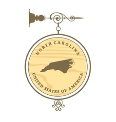 Vintage label North Carolina vector image