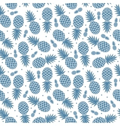 Vintage pineapple seamless vector image