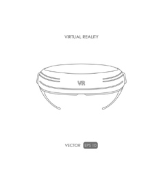 Virtual reality helmet on white background vector image