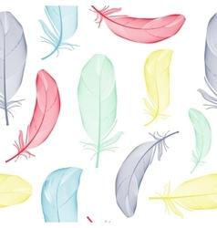 Bird feather hand drawn seamless pattern vector