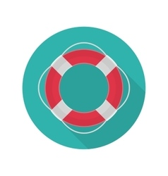 Ring lifebuoy icon vector image