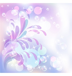 Bokeh and bubbles vector