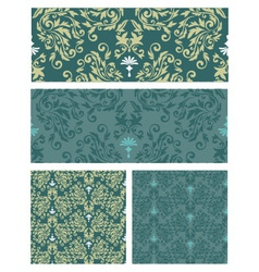 Seamless pattern damask vector