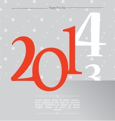 happy new year silver 2014 vector image