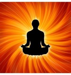 power of yoga  meditation vector image