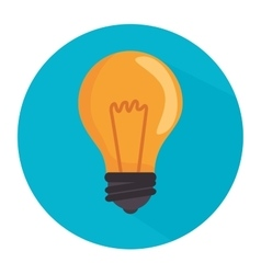 Bulb isolated icon vector