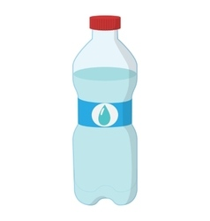 Plastic bottle of water cartoon icon vector