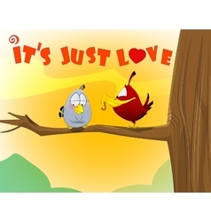 Sweet love birds vector
