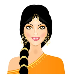 Eastern woman in orange vector