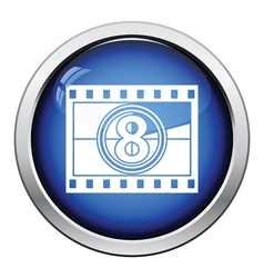 Movie frame with countdown icon vector
