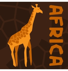 African ethnic background with of giraffe vector