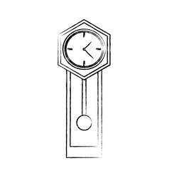 antique clock icon image vector image