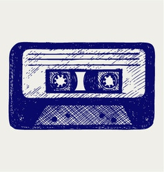 Audio cassette tape vector image vector image