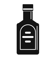 Bottle of whiskey icon simple style vector