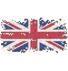 British grunge tile flag vector image
