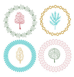 Cute frames set decorative elements with vector