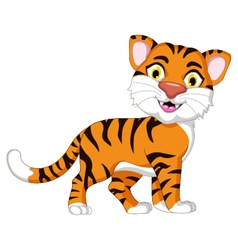 Cute tiger cartoon for you design vector image vector image