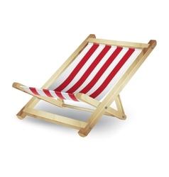 Deck chair vector