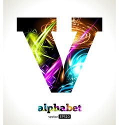 Design Abstract Letter V vector image vector image