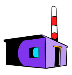 Factory building icon icon cartoon vector