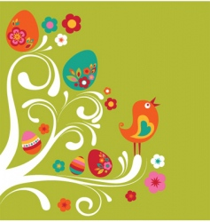 floral Easter background vector image vector image