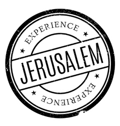 Jerusalem stamp rubber grunge vector