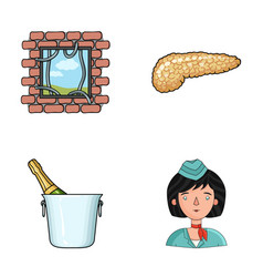 Justice restaurant and other web icon in cartoon vector