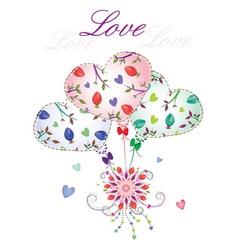 love balloons vector image vector image