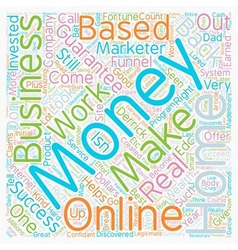 Make Money From Home In A Home Based Business That vector image vector image