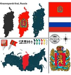 Map of Krai of Krasnoyarsk vector image vector image