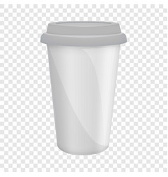 paper coffee cup with lid mockup realistic style vector image vector image