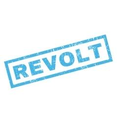 Revolt rubber stamp vector
